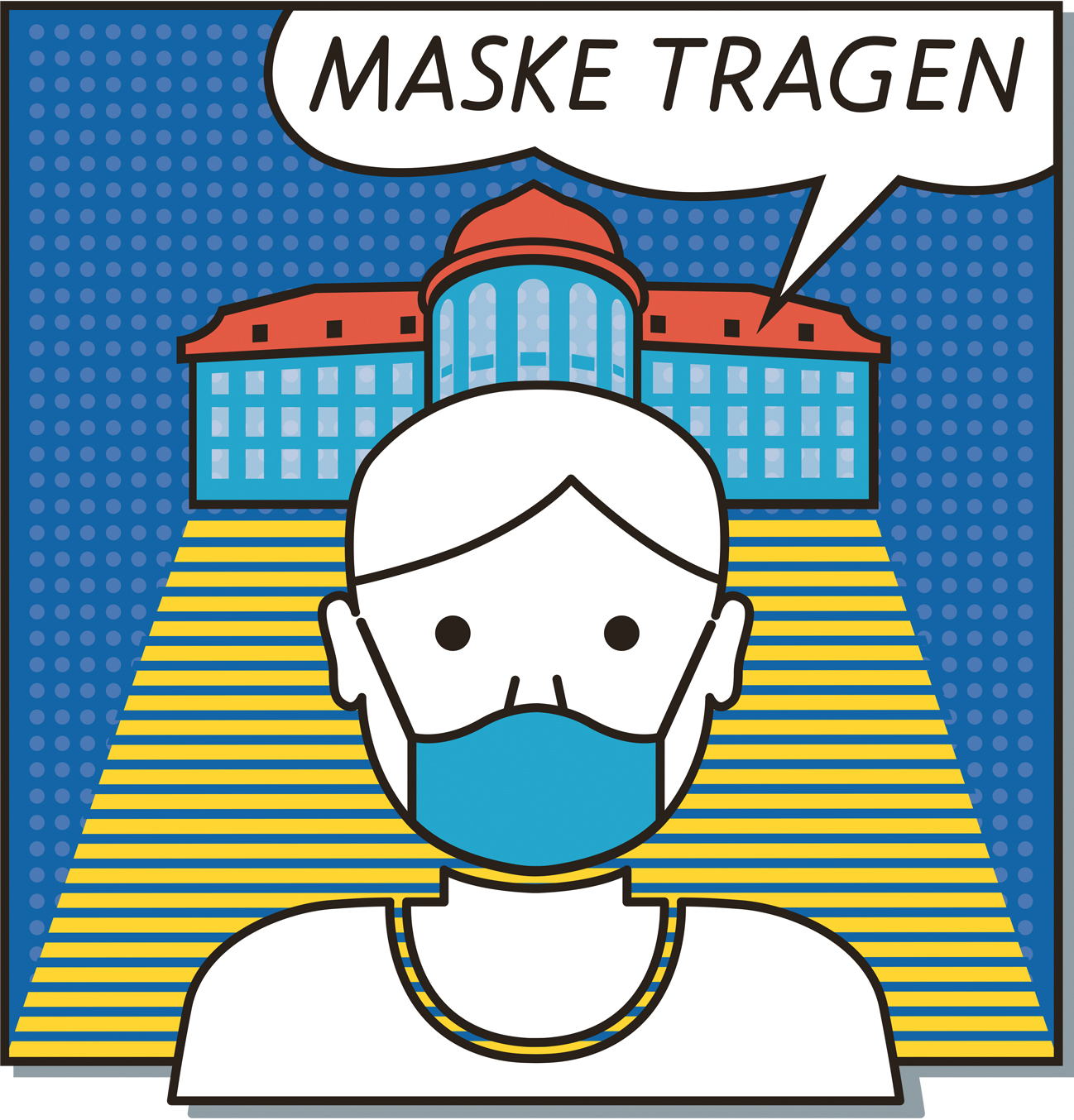Person mit Maske (Grafi)